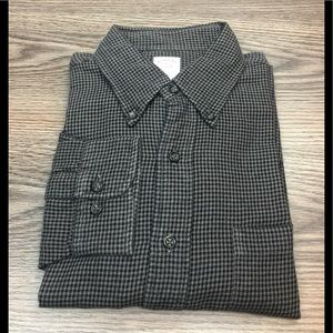Brooks Brothers Shirts - Brooks Brothers Grey & Black Houndstooth Shirt L